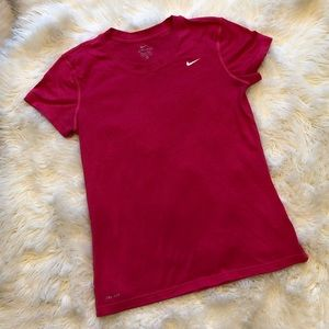 Nike Pink Dryfit Workout Athletic Stretch T